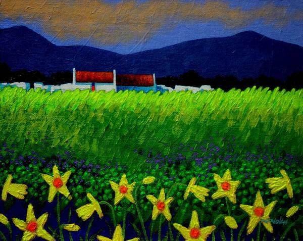 Wall Art - Painting - Daffodil Meadow by John  Nolan