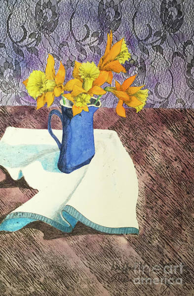 Wall Art - Painting - Daffodilly Afternoon by Teresa Ascone