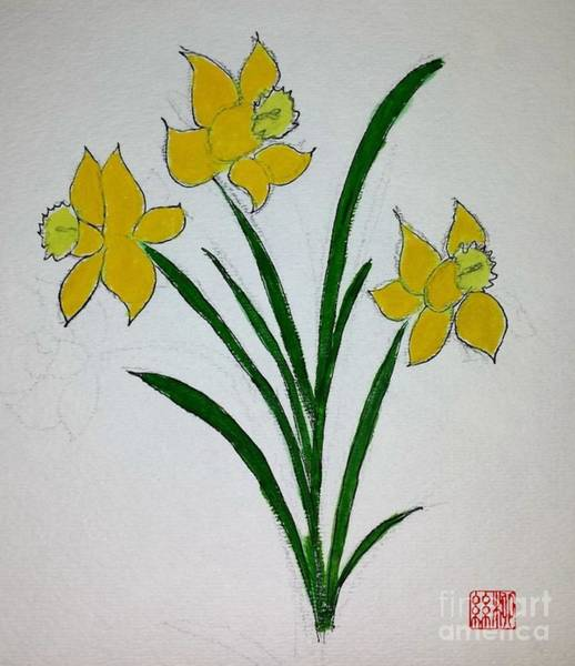 Painting - Daffodils by Margaret Welsh Willowsilk