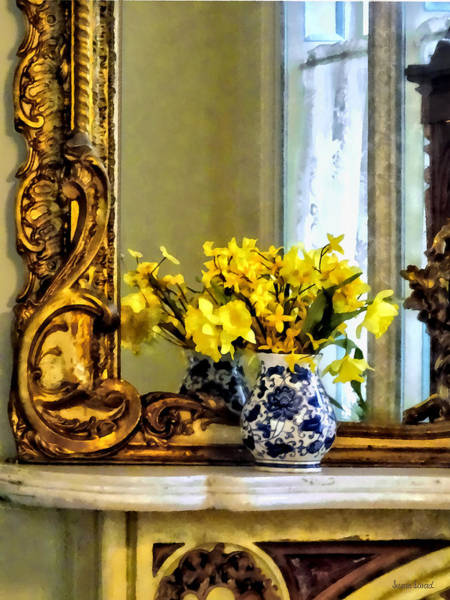 Photograph - Daffodils On Mantelpiece by Susan Savad