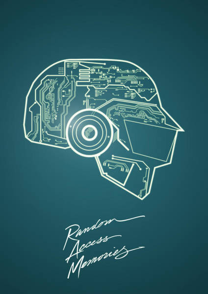 Punk Digital Art - Daft Punk Thomas Poster Random Access Memories Digital Illustration Print by IamLoudness Studio