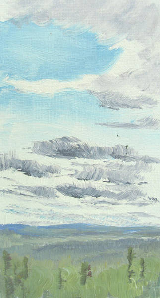 Dagrar Over Salenfjallen- Shifting Daylight Over Distant Horizon 10 Of 10_0029 Art Print