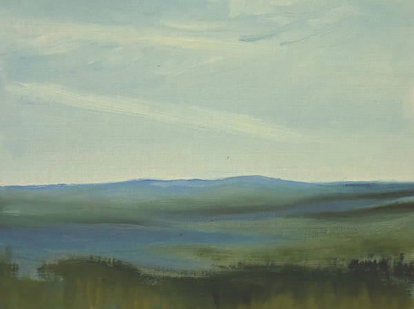 Painting - Dagrar Over Salenfjallen- Shifting Daylight Over Distant Horizon 6 Of 10 by Marica Ohlsson