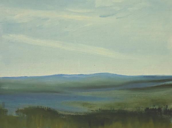 Dagrar Over Salenfjallen- Shifting Daylight Over Distant Horizon 6 Of 10 Art Print