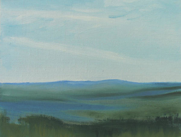 Painting - Dagrar Over Salenfjallen- Shifting Daylight Over Distant Horizon 6a Of 10_0027 50x40 Cm by Marica Ohlsson