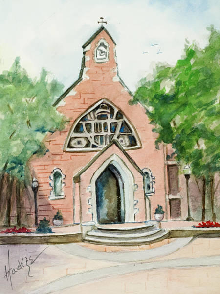 Chapel Painting - Dahlgren Chapel by Mary DuCharme