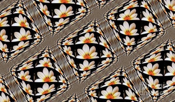 Wallpaper Mixed Media - Dahlia Tiles by Nishma Creations