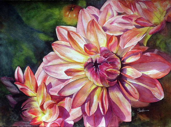 Wall Art - Painting - Dahlias by Susy Soulies