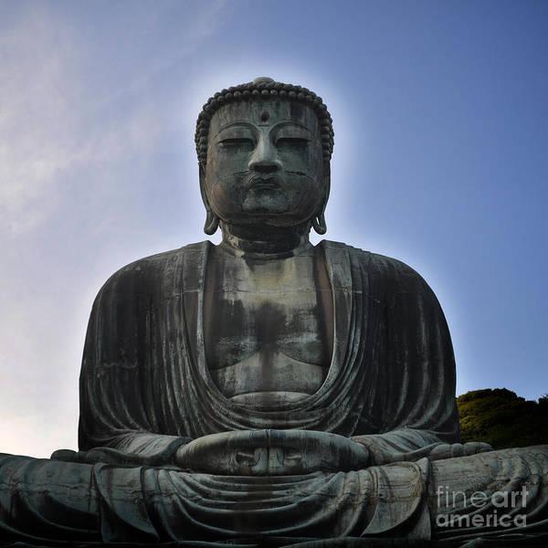 Giant Buddha Photograph - Daibutsu Buddha by Stevyn Llewellyn