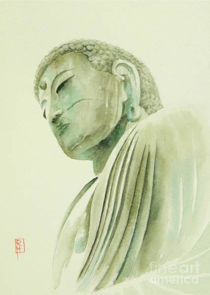 Buddhist Wall Art - Painting - Daibutsu by Robert Hooper