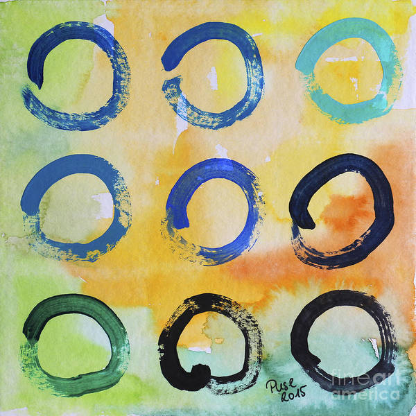 Painting - Daily Enso - The Nine by Jutta Maria Pusl