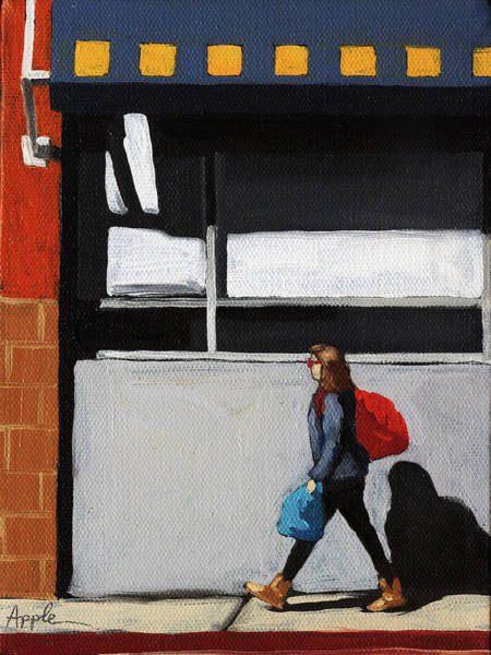 Wall Art - Painting - Daily Errands by Linda Apple