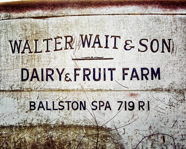 Ballston Spa Photograph - Dairy And Fruit Farm Print For Kitchen Art  by Lisa Russo