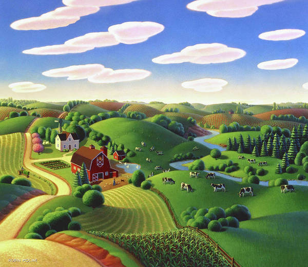 Painting - Dairy Farm  by Robin Moline
