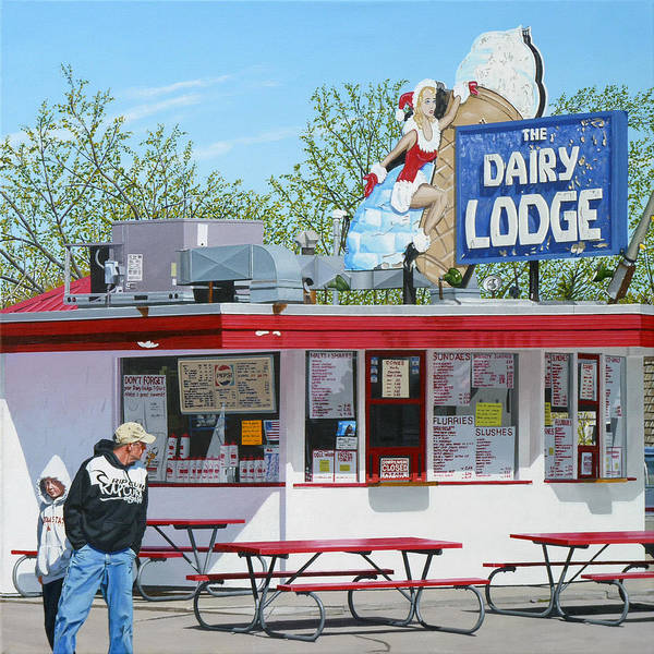 Drive-ins Painting - Dairy Lodge by Michael Ward