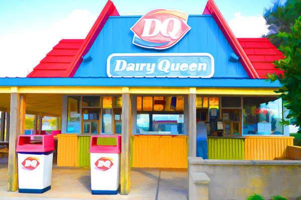 Food Chain Painting - Dairy Queen by Jeelan Clark