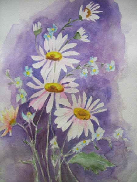 Painting - Daisey Bouquet by Audrey Bunchkowski