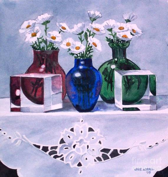 Painting - Daisies And Cubes by Jane Loveall