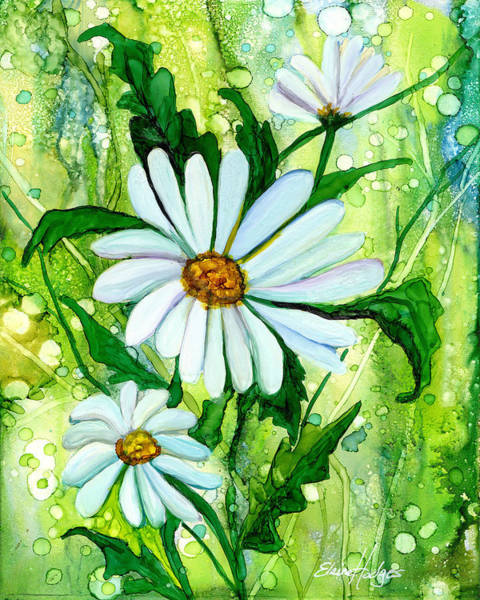 Wall Art - Painting - Daisies by Elaine Hodges