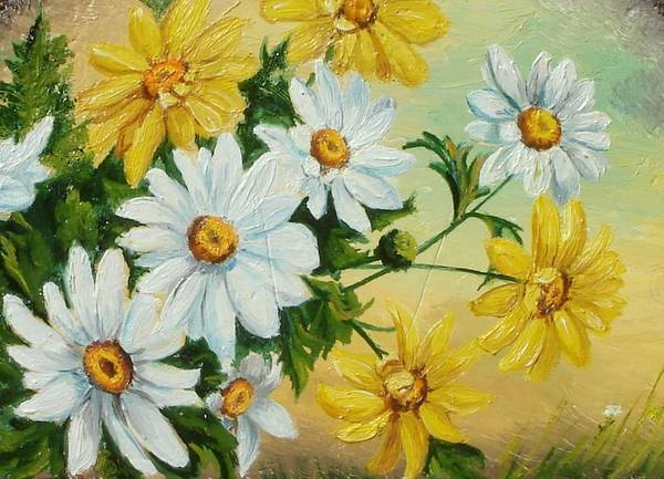Painting - Daisies In The Sky by Sorin Apostolescu