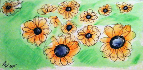 Painting - Daisies by Loretta Nash
