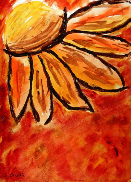 Painting - Daisy 1 by Carol Crisafi