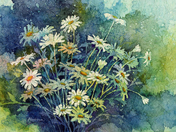 Delicate Painting - Daisy Bouquet by Hailey E Herrera