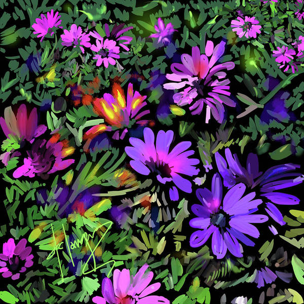 Painting - Daisy Garden by DC Langer