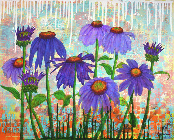 Painting - Daisy Masquerade by Lisa Crisman
