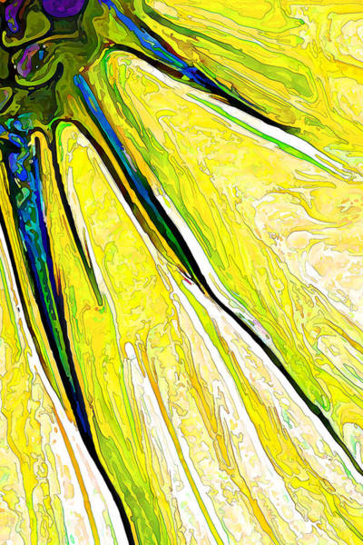 Digital Art - Daisy Petal Abstract In Lemon-lime by ABeautifulSky Photography by Bill Caldwell