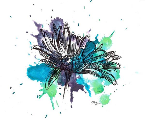 Painting - Daisy Splashes by Emily Page