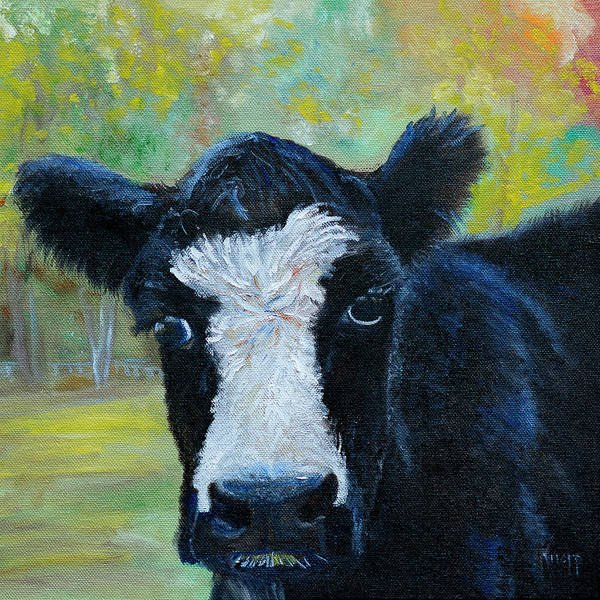 Painting - Daisy The Cow by Kathy Knopp