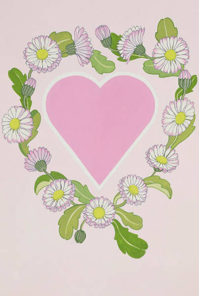 Valentines Painting - Daisy Valentine by Lavinia Hamer