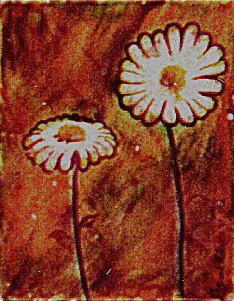 Painting - Daisys by Frank Hunter