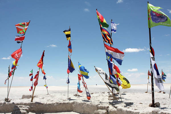 Photograph - Dakar Rally Flags by Aidan Moran