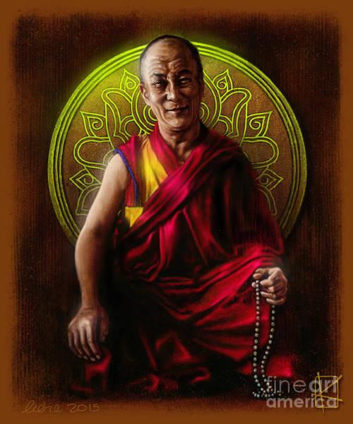 Dalai Lama Wall Art - Digital Art - Dalai Lama by Andre Koekemoer