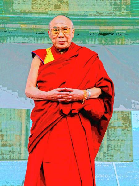 Dalai Lama Wall Art - Mixed Media - Dalai Lama by Dominic Piperata
