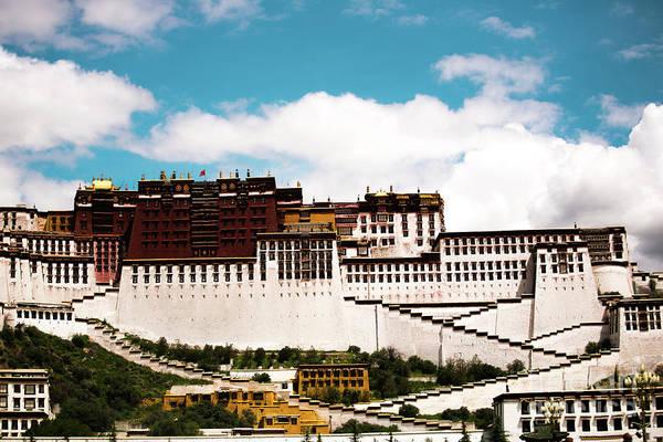 Kora Wall Art - Photograph - Dalai Lama Home Place. Potala Palace  Kailash Yantra.lv 2016 Tibet by Raimond Klavins
