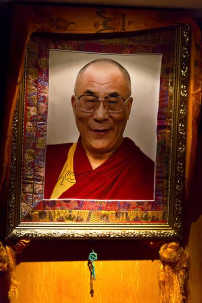 Dalai Lama Wall Art - Photograph - Dalai Lama by Laurence Debeaux