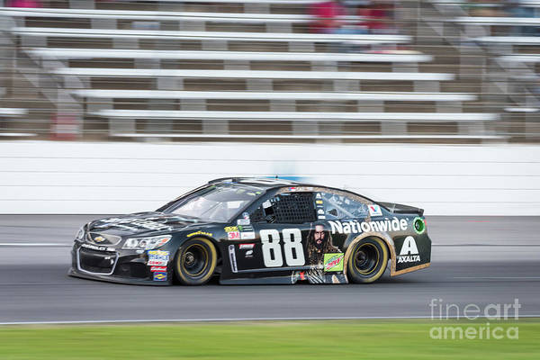 Photograph - Dale Earnhardt Jr Running Hard At Texas Motor Speedway by Paul Quinn