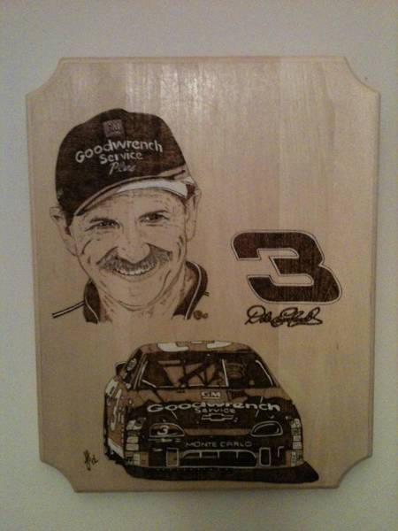 Pyrography Wall Art - Pyrography - Dale Earnhardt Sr. by John Pitre