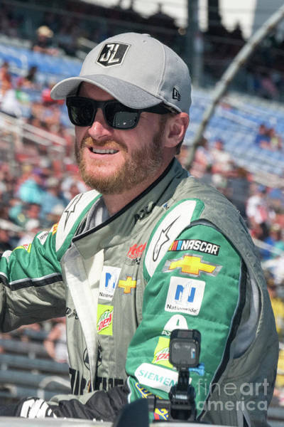 Photograph - Dale Jr Ready For His Last Nascar Race At Texas Motor Speedway by Paul Quinn