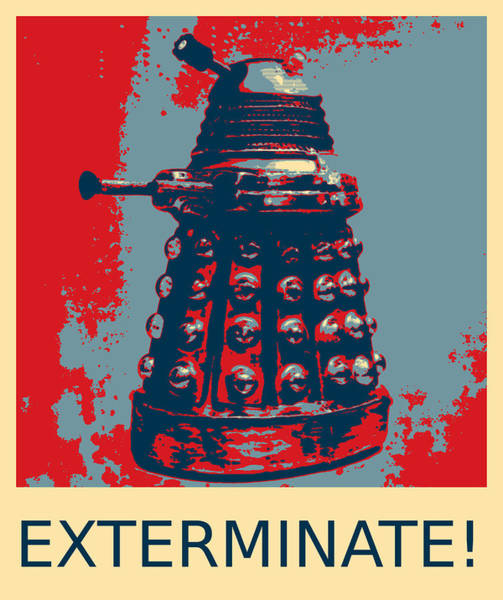 Photograph - Dalek - Exterminate by Richard Reeve