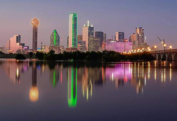 Photograph - Dallas City Reflection by Robert Bellomy