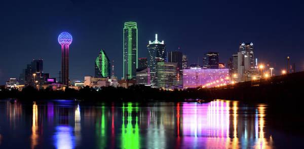 Dallas Colorful Night 52716 Art Print