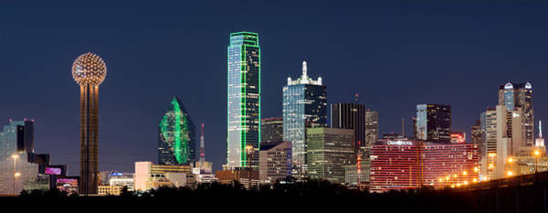 Photograph - Dallas Colorful Skyline V1 by Rospotte Photography
