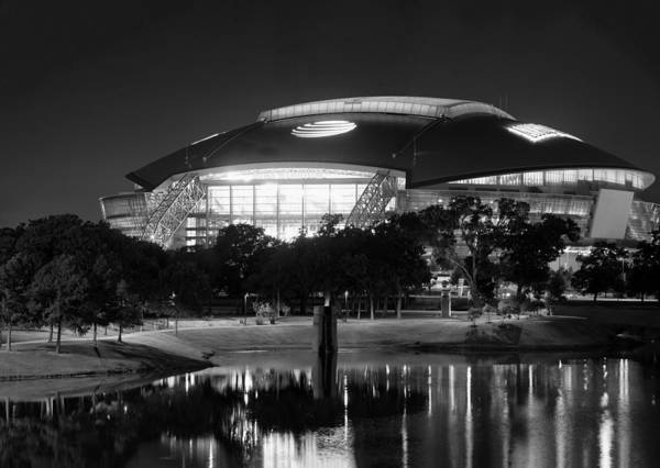 Photograph - Dallas Cowboys Stadium Bw 032115 by Rospotte Photography