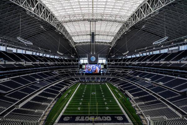 Dallas Cowboys Photograph - Dallas Cowboys Stadium End Zone by Jonathan Davison
