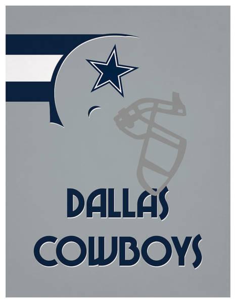 Wall Art - Mixed Media - Dallas Cowboys Team Vintage Art by Joe Hamilton