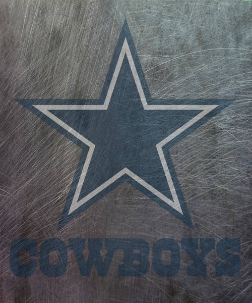 Mixed Media - Dallas Cowboys Translucent Steel by Movie Poster Prints